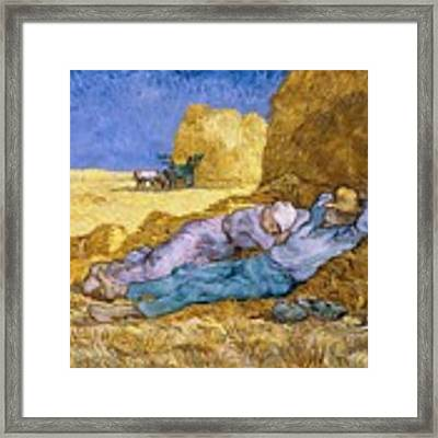 The Siesta Framed Print by Vincent Van Gogh