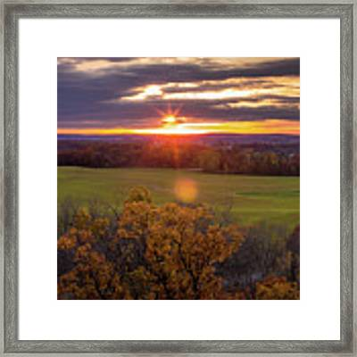The View From Up Here Framed Print by Viviana Nadowski