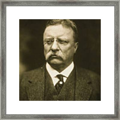 Theodore Roosevelt Framed Print by Artistic Panda