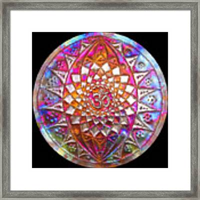 Third Up Kupfer Lichtmandala Framed Print by Robert Thalmeier