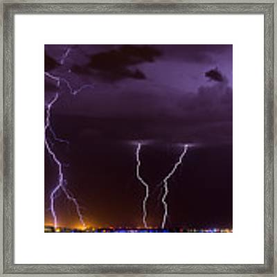 Thunderbolts Framed Print by Brad Brizek