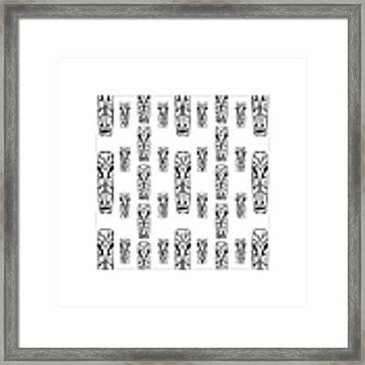Tikis Mini Framed Print by Donna Mibus
