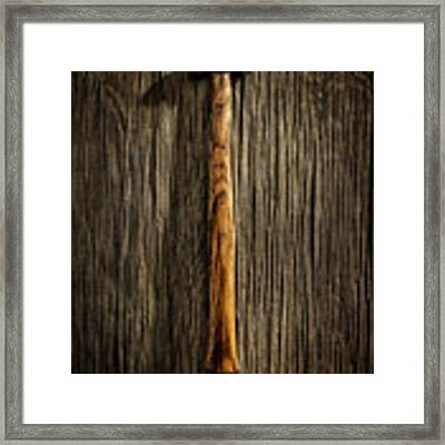 Tools On Wood 18 Framed Print