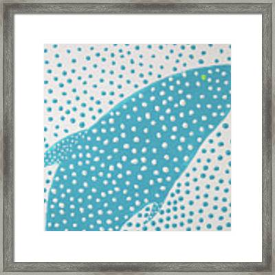 Top Of The Dotted Whale Framed Print by Deborah Boyd