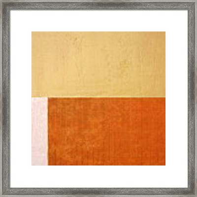 Topaz Pink Orange Framed Print