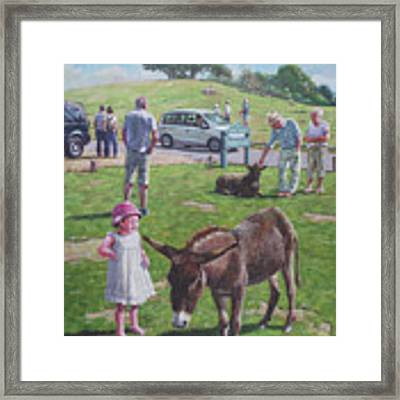 Tourists At Boltons Bench New Forest  Framed Print by Martin Davey