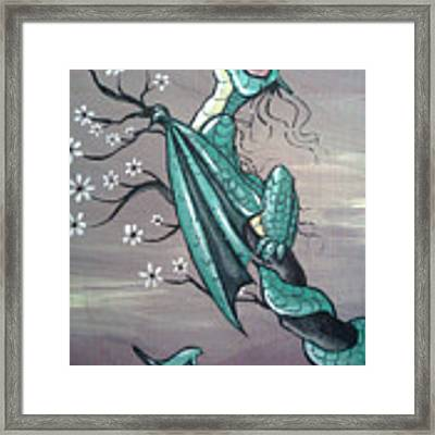Tree Dragon II Framed Print by Mary Hoy