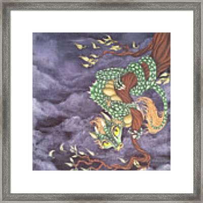 Tree Dragon Framed Print by Mary Hoy