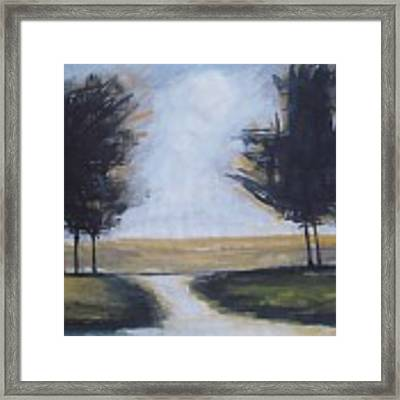 Trees On Rural Road 2 Framed Print