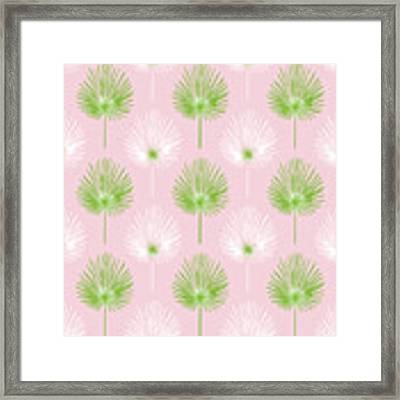 Tropical Leaves On Pink 2- Art By Linda Woods Framed Print by Linda Woods