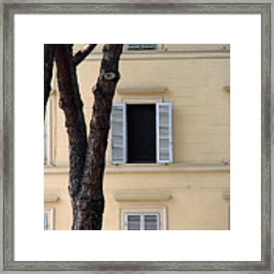 Tuscany Window Framed Print by Julian Perry