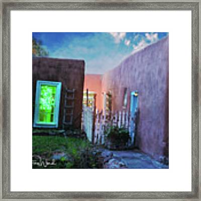 Twilight On Bent Street Framed Print by Kate Word