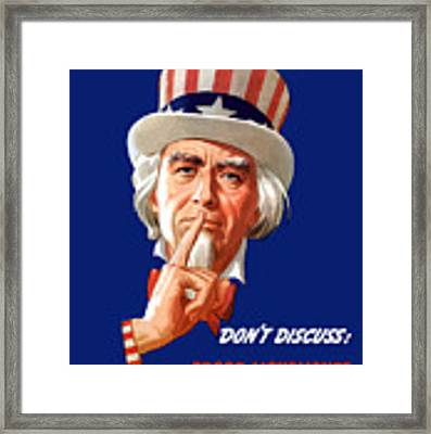 Uncle Sam - I'm Counting On You Framed Print