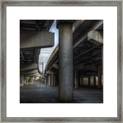 Under The Overpass I Framed Print by Break The Silhouette