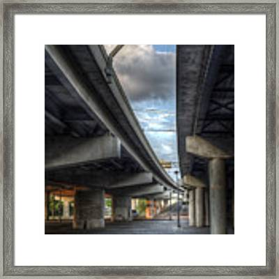 Under The Overpass II Framed Print by Break The Silhouette