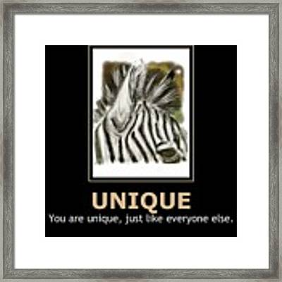 Unique Motivational Poster Framed Print by Darren Cannell