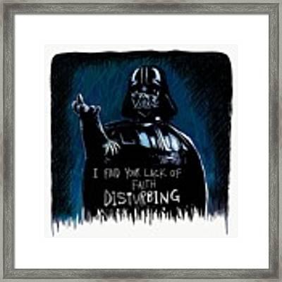 Vader Framed Print by Antonio Romero