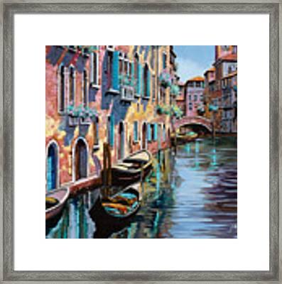 Venezia In Rosa Framed Print by Guido Borelli