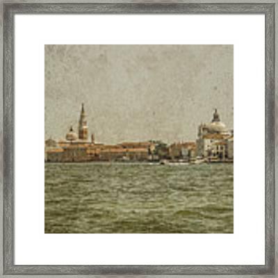Venice, Italy - S. Giorgio And Sa. Maria Delle Zitelle Framed Print by Mark Forte