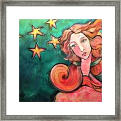 Venus Of The Stars Framed Print by Laurie Maves ART