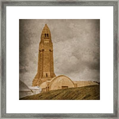 Verdun, France - Ossuary Tower Framed Print by Mark Forte