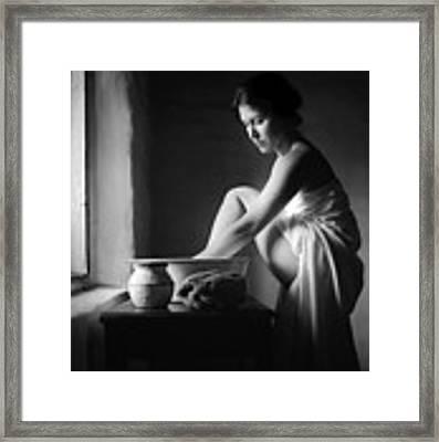 Vermeer Footwasher Framed Print by Jennifer Wright