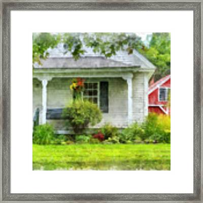 Vermont Farm House Kent Corner Watercolor Framed Print by Edward Fielding