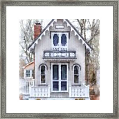 Victorian Cottage Watercolor Framed Print by Edward Fielding