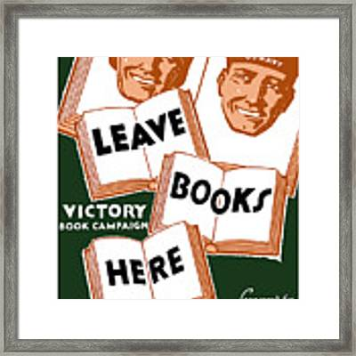 Victory Book Campaign - Wpa Framed Print
