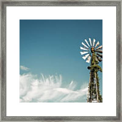Vines Growing Up A Windmill In Canada Framed Print by Bryan Mullennix
