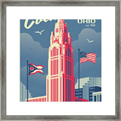 Columbus Poster - Vintage Style Travel Framed Print by Jim Zahniser