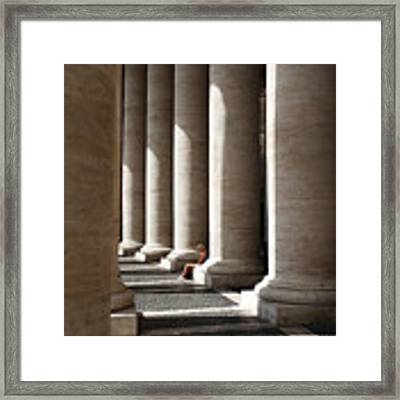 Waiting At St Peter's Framed Print by Julian Perry