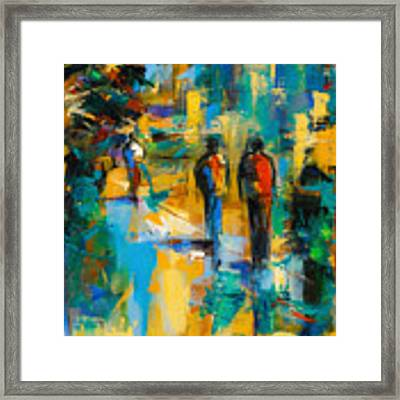Walk In The City Framed Print by Elise Palmigiani