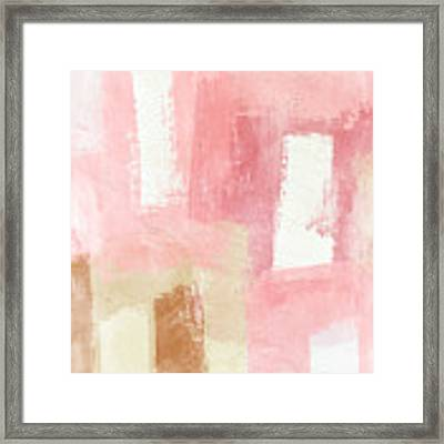 Warm Spring 2- Abstract Art By Linda Woods Framed Print by Linda Woods