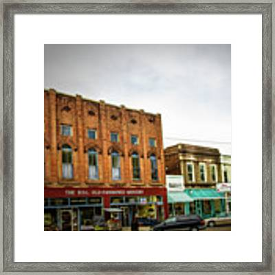 Water Valley Business District Framed Print by Barry Jones
