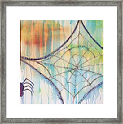 Water Web Framed Print by Angelique Bowman