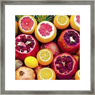 Watercolor Superfood Combo Framed Print by Celestial Images