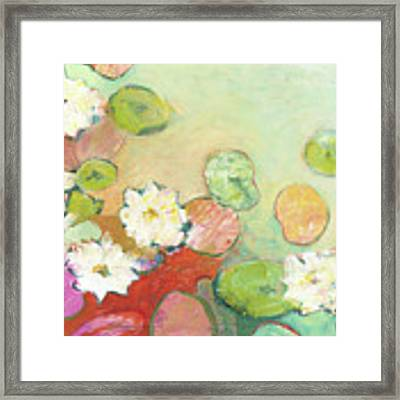 Waterlillies At Dusk No 2 Framed Print