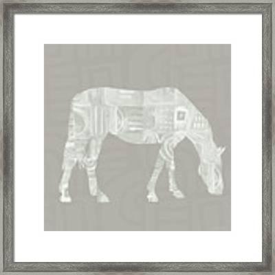 White Horse 2- Art By Linda Woods Framed Print