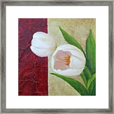 White Tulips Framed Print by Phyllis Howard