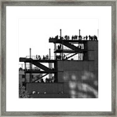 Whitney Silhouettes Framed Print by Rona Black
