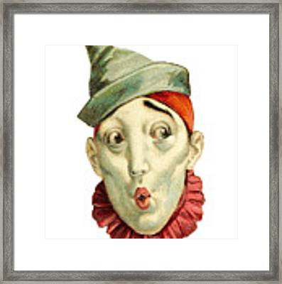 Who Me? Framed Print by ReInVintaged
