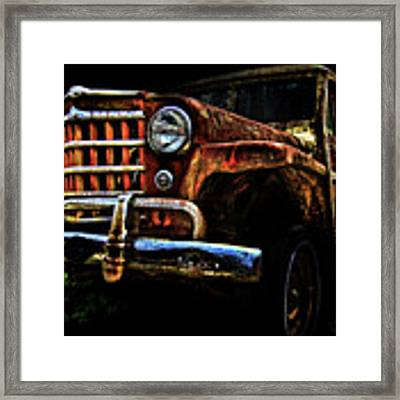 Willy's Station Wagon Framed Print by Glenda Wright