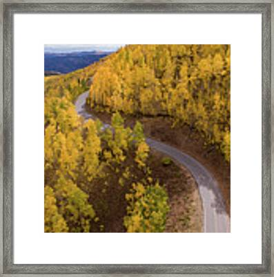 Winding Through Fall Framed Print by Wesley Aston