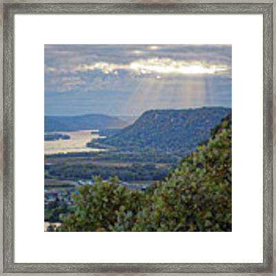 Winona Garvin Heights With Sunbeams Framed Print by Kari Yearous