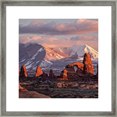 Winter In Arches Np Framed Print by Wesley Aston