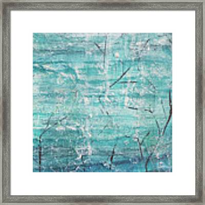 Winter Scene Portrait Framed Print by Jocelyn Friis