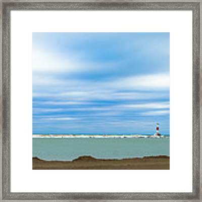 Wisconsin Winter Lakefront Framed Print by Steven Santamour