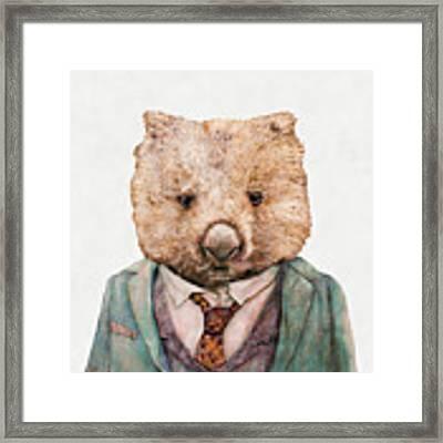 Wombat Framed Print by Animal Crew