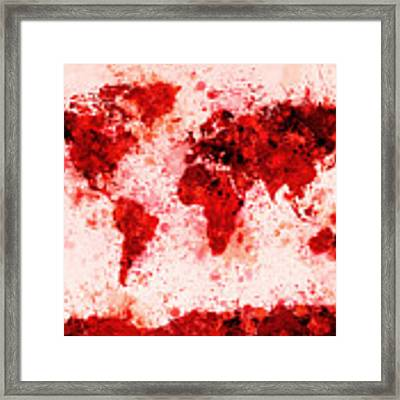 World map framed art prints fine art america maps maps and more maps gumiabroncs Choice Image